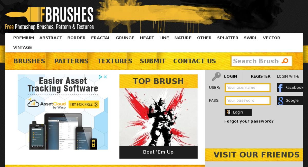 fbrushes com — Website Sold on Flippa: Photoshop Brushes