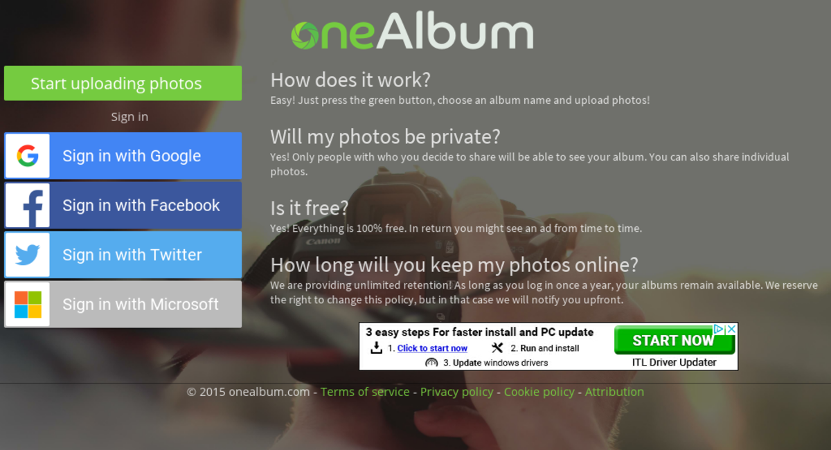 oneAlbum com — Website Listed on Flippa: PREMIUM DOMAIN +