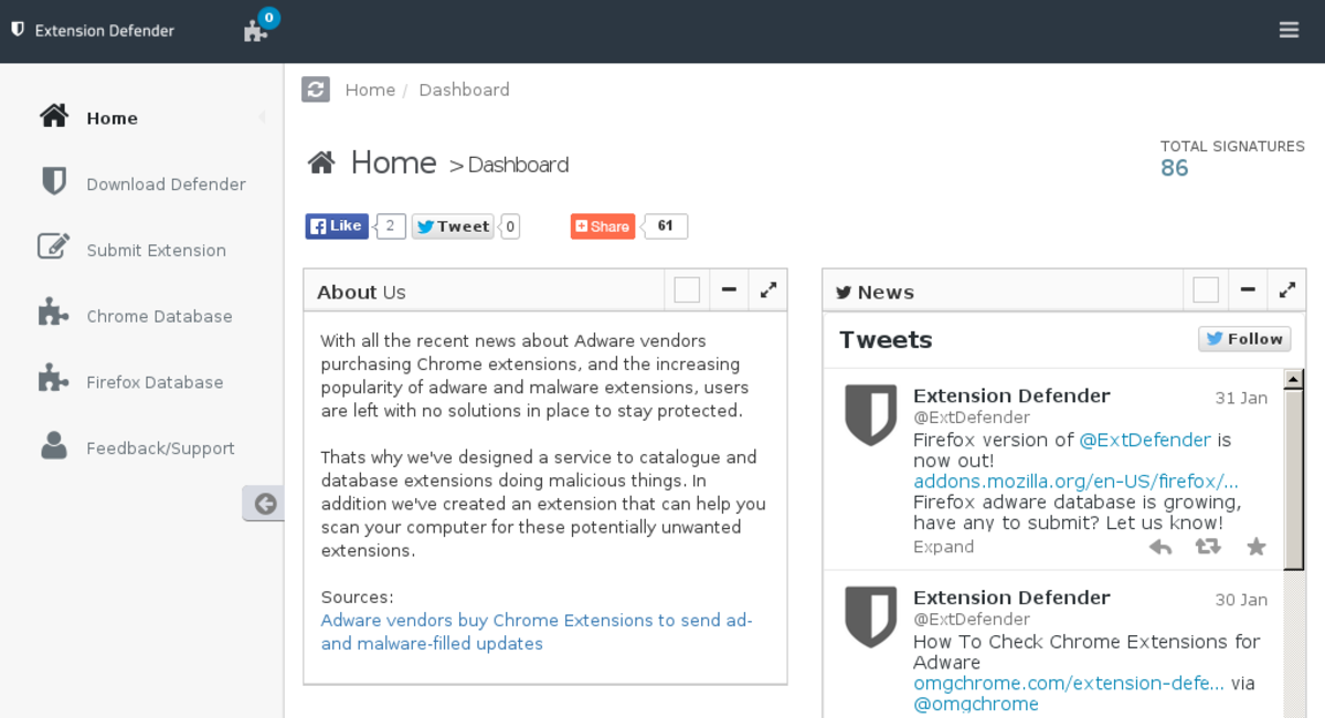 extensiondefender com — Website Listed on Flippa: Extension Defender