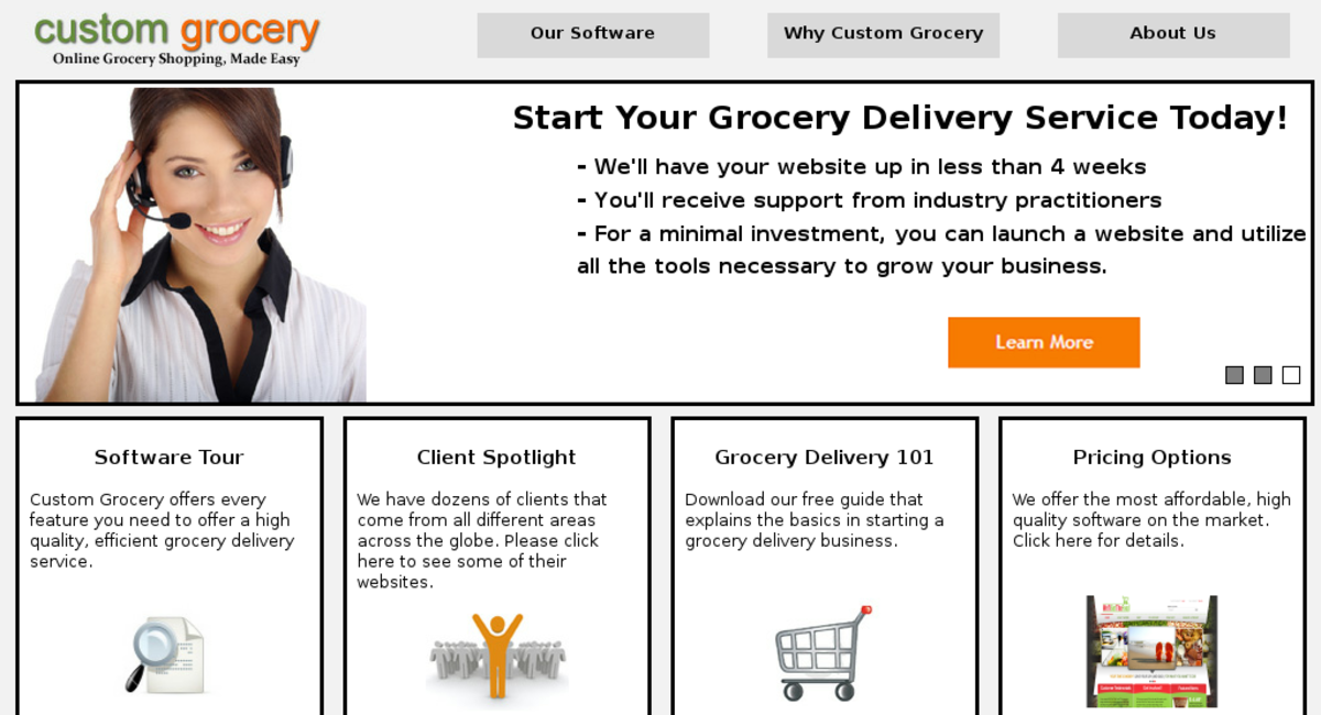customgrocery com — Website For Sale on Flippa: SaaS / Food and Drink