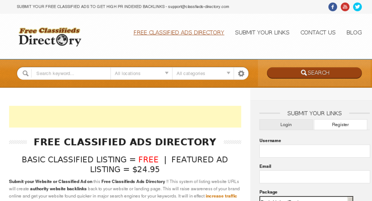 Classifieds-Directory com — Website Sold on Flippa: 17 Y/O