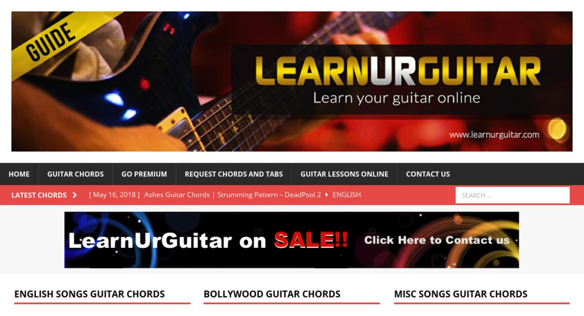 learnurguitar com — Website Sold on Flippa: 5 Year Old