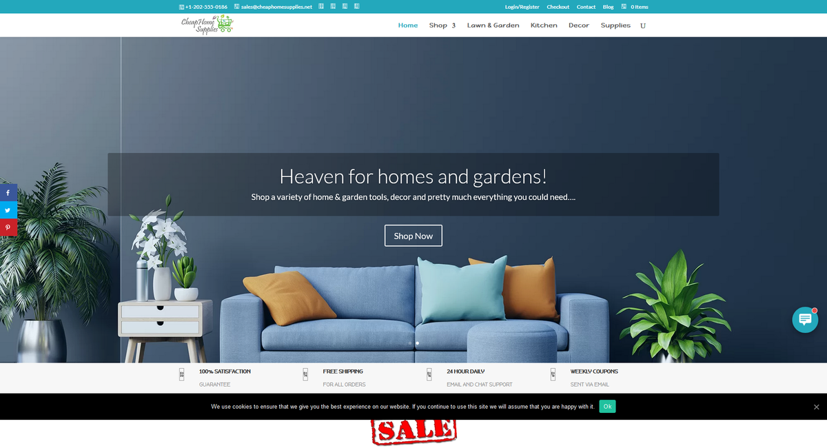 CheapHomeSupplies.com — Starter Site Listed on Flippa