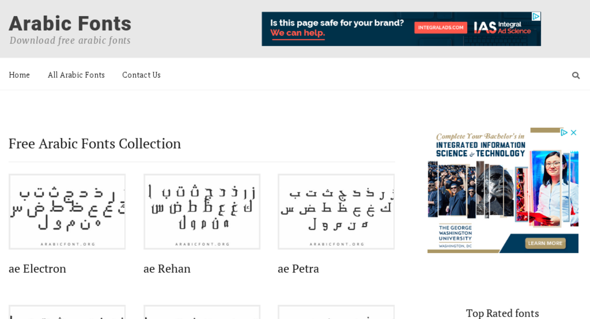 ArabicFont org — Website Listed on Flippa: High-potential premium