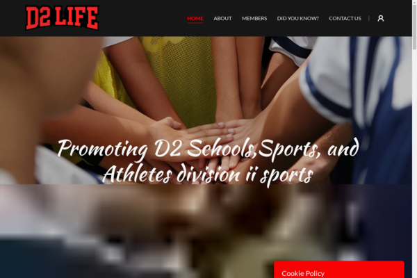 d2life.org - Niche Blog promoting D2 schools, athletes, and sports
