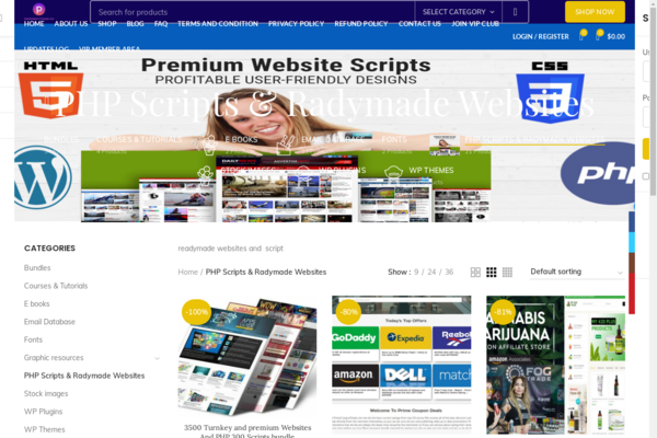 premiumwebsitesbank.com - Automated & preloaded Ready Made Websites selling website for Sale