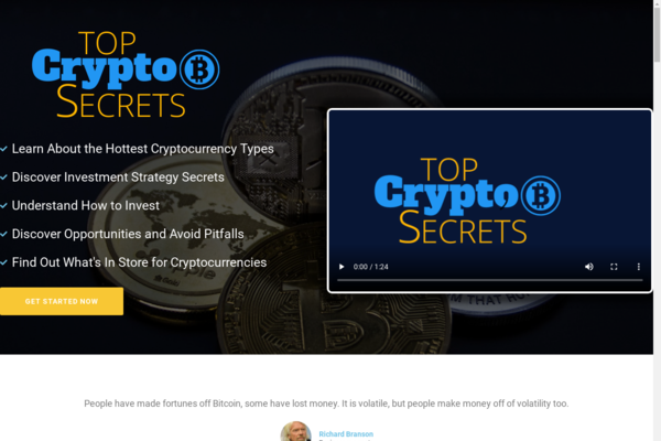 TopCryptoSecrets.com - Cryptocurrency Course Store, Digital Product, Wordpress/WooCommerce