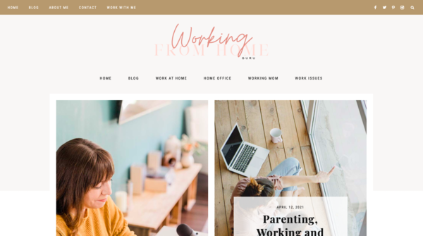 workingfromhome.guru - SUPER CHEAP Template Work-from-Home Blog. Perfect for beginner bloggers!