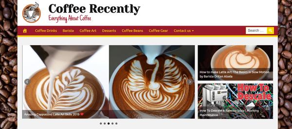 CoffeeRecently.com - Hot Coffee Niche - Premium Design - 100% Fully Automated + BIN hosting