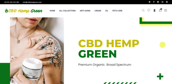 CBDHempGreen.com - Automated CBD/Hemp Derived Products Dropshipping Store,Trustworthy Supplier
