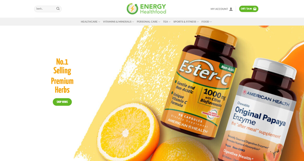 EnergyHealthfood.com - ENERGYHEALTHFOOD.COM Professional Healthfood store 5,000+inventory USA Supplier