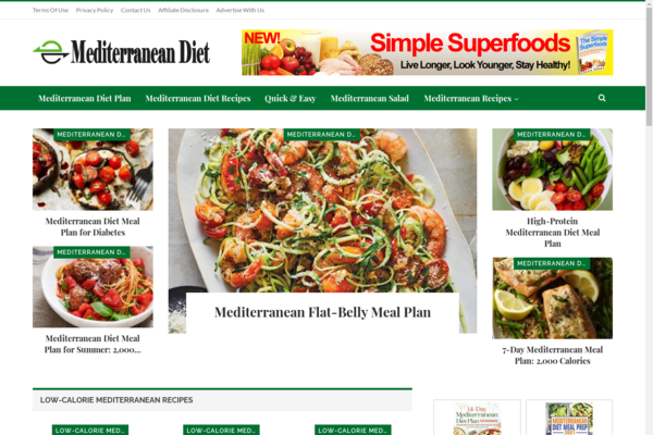 MediterraneanDiets.xyz - Mediterranean Food and Diet Website| Get 15 Ready Premade Website Bonus