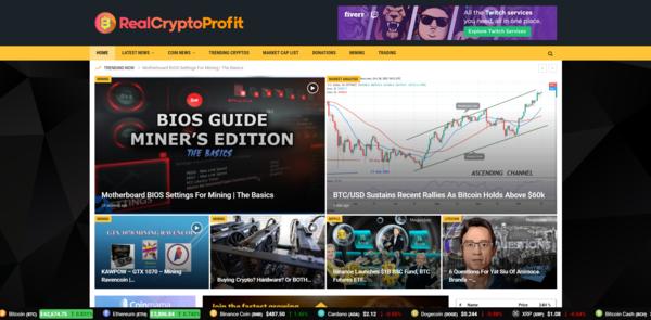 RealCryptoProfit.com - 100% Autopilot Crypto Bitcoin News Magazine Blog To Make Money Online on Crypto Ads - Premium Domain Name Valued $700 - Newbie Friendly WordPress Site