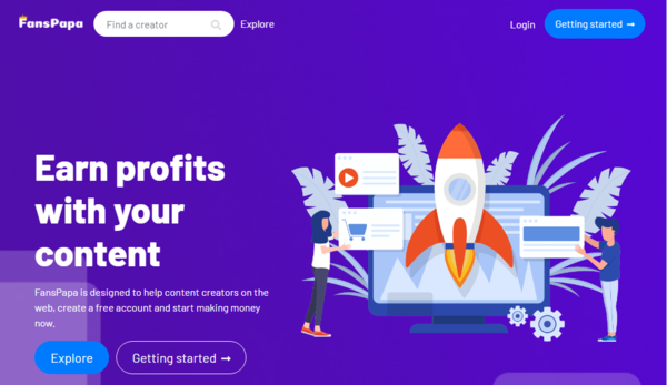 FansPapa - Powerful SAAS Website Provide Content Creators a Platform where they can share their content on Paid/Free subscription basis. Owner of the Website will get 30%