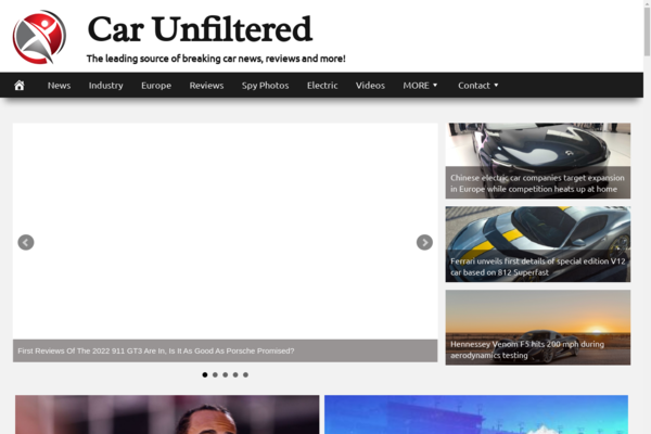 CarUnfiltered.com - Fully Automated Cars News Website. Get 5 Automated Websites worth over $900