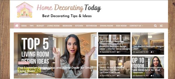 HomeDecoratingToday.com - Fully Automated Home Decor Website - Premium Design - 1 Extra site for BIN.