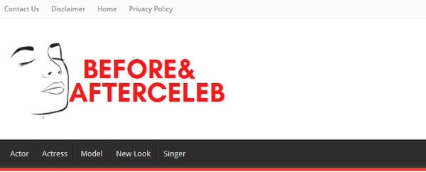 beforeandafterceleb.com - Celebrity 7 Years Old project $150/Month adsense Earning, No Regular update