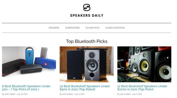 speakersdaily.com - Advertising / Electronics