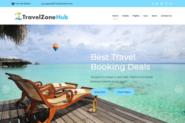 TravelZoneHub.com - 100% Automated Hotel, Flight & Car Rental Website - Top Profitable, No Exp Req.