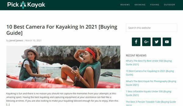 PickAKayak.com - Beginner-Friendly WordPress Blog Making $341.68/m with Amazon Associates Only