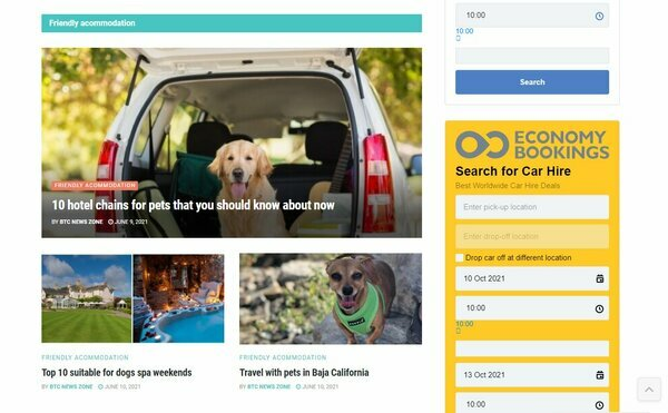 DogTravelCenter.com - Super Premium - Automated Travel Deals Comparison Site & Travel Blog with pets. Its optimized to rank for organic Google search queries.