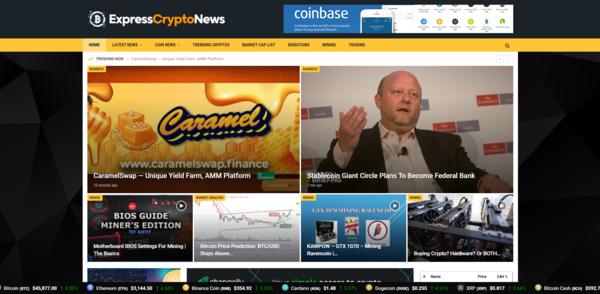 ExpressCryptoNews.com - Autopilot Crypto Bitcoin News Magazine Blog To Make Money Online