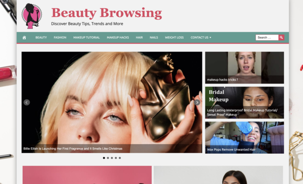 Beauty Browsing - Fully automated website with SSL, that automatically adds news articles and-or videos every few hours. Win this auction and you get 4 additional websites worth