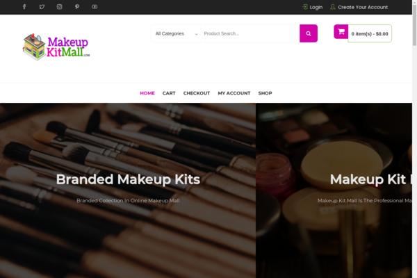makeupkitmall.com - Makeup Kit Digital Store for Sale. ECommerce Dropship Store.