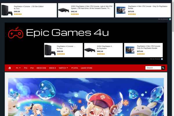 epicgames4u.com - Premium designed website about everything related to Gaming. Fully automated.