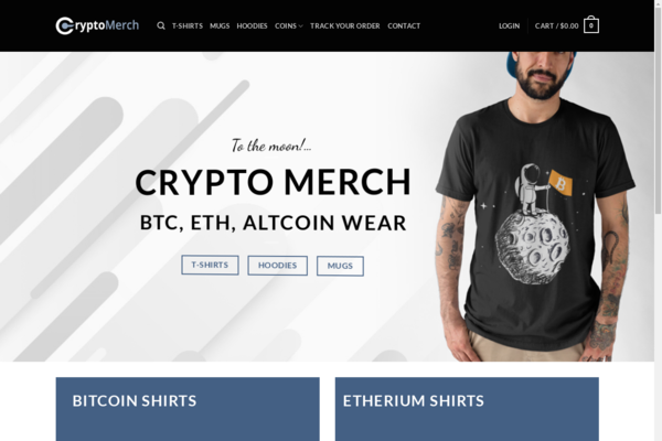 CryptoMerch.cc - Cryptocurrency Merch Store - Print-on-Demand Business - 100% Automated