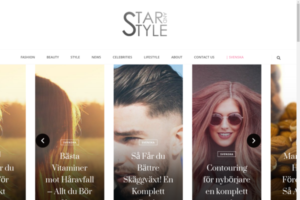 starandstyle.com - Fashion/beauty blog with a strong link profile and high DA/DR