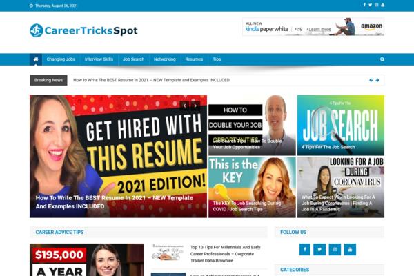 CareerTricksSpot.com - 100% Automated Career Advice Site - Huge Profitable, Newbies Friendly - Must See