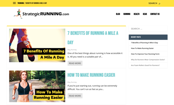 StrategicRunning.com - Beautifully Designed Running Website! Awesome Domain Name. Very Brandable