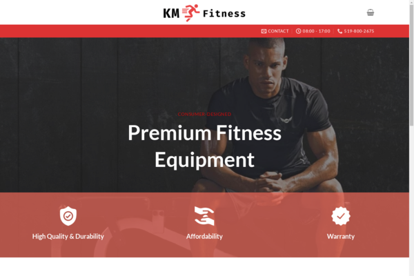 kmfit.ca - Fitness Equipment Business | Inventory Included| 34% Profit | 15K Revenue