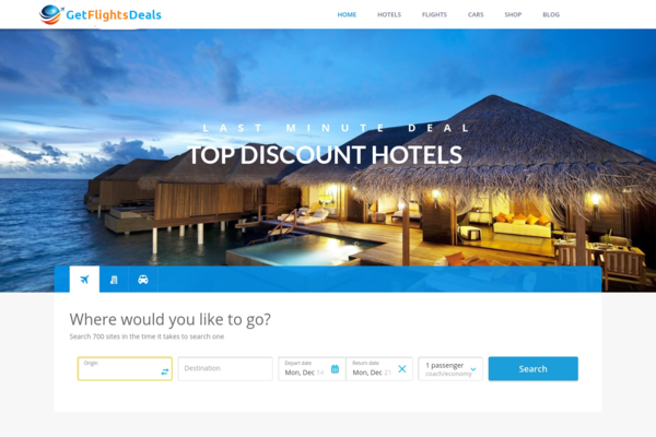 GetFlightsDeals.com - Fully Automated Travel Website - Earn Up to $2500/mo - Huge Buy It Now Bonuses!