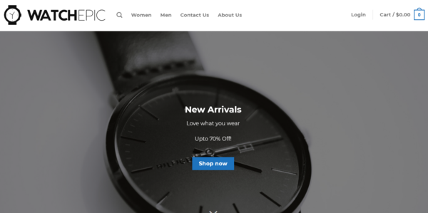 WatchEpic.com - WatchEpic.com automated watch products dropshiping store worth+$1400Noreserve