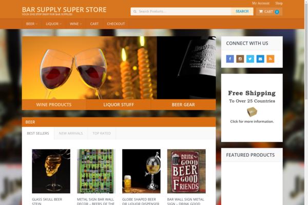 BarSupplySuperStore.com - Hot New Niche! - Bar Supply Dropship eCommerce Site - BIN Bonuses!