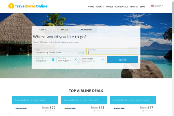 TravelRatesOnline.com - Fully Automated Travel Website - Earn Up to $2500/mo - Huge Buy It Now Bonuses!