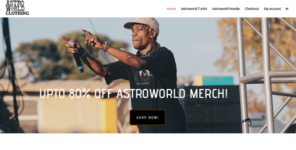 astroworldclothing.com - Astroworld Merch Drop shipping website with HUGE Potential!