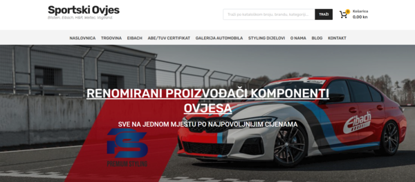 sportski-ovjes.com - Complete WooCommerce web shop with all Eibach sports springs