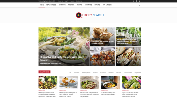 foodysearch.com - FoodySearch Focused on improving health habits through diet and nutrition.