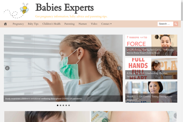 BabiesExperts.com - Popular Baby Niche - High CTR Design - BIN Bonus - Fully Automated