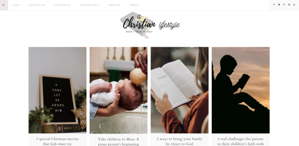 achristianlifestyle.com - Evergreen Starter Site for sale in Christian Living niche blog!
