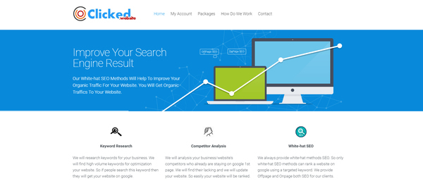 clicked.website - SEO Service Selling Business. Monthly Net Profit is Around $800. 100% Outsourced