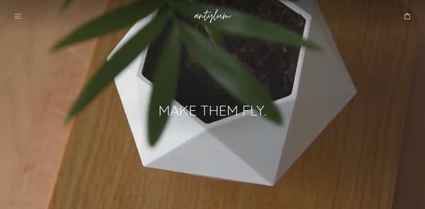 antylum.com - Levitating Plant Pot Business | Branded Shopify One Product Store