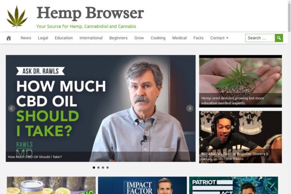 HempBrowser.com - Fully Automated CBD Website - 1 Year Free Hosting BIN + Great Bonuses