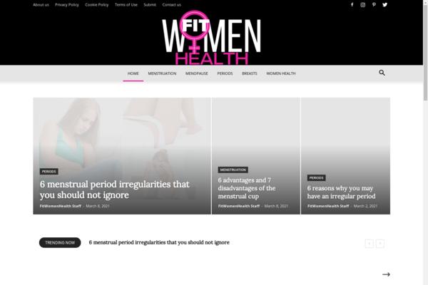 FitWomenHealth.com - FitWomenHealth: Fit Women, Women Health, Breasts, Menstruation, Periods