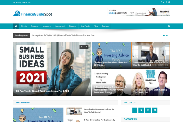 FinanceGuideSpot.com - Fully Automated Finance Site - Great Profitable - Newbies Friendly - Must See!