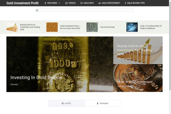 GoldInvestmentProfit.com - Hot Niche! - Gold Investment Blog - Amazon & Clickbank Ads! - BIN Bonuses!