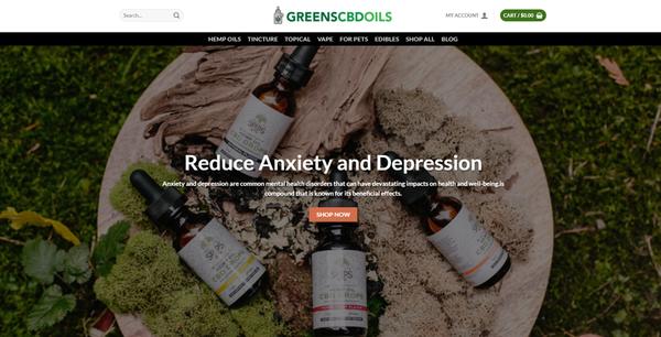 GreensCBDOils.com - GREENSCBDOILS.COM - CBDHemp READY-TO-GO! Store 100+ Inventory